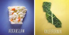Dad And His 8-Year-Old Son Are Creating A Pun-Fueled Food Map Of Every US State