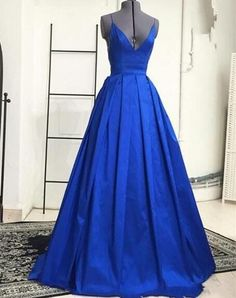 Royal Blue Evening Gown Long Prom Evening Dresses,Long Evening Party Dress