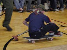 Skateboard kayaking