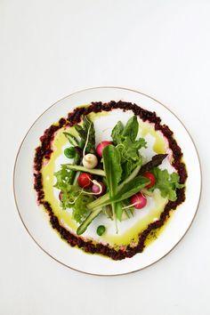 ... . Fava Bean. Radish Salad. Crushed Mulberry and Basil Vinaigrette