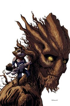 Guardians of the Galaxy - Groot and Rocket Raccoon