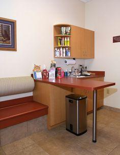 Veterinary hospital exam room