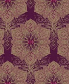 ST10309, from Elan by Seabrook, is an acrylic coated , ecochic , unpasted wallpaper with a medallion , floralpattern in purple , pink , gold.