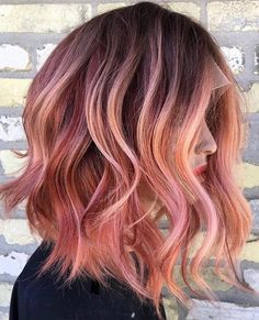 10 Creative Hair Color Ideas for Medium Length Hair, Medium Haircut 2019 Medium Hair Color Ideas, Shoulder Length Hairstyle for Female in 2019 - Unique World Of Hairs Cabello Color Magenta, Magenta Hair Colors, Ombre Hair Color, Hair Color Balayage, Cool Hair Color, Medium Hair Cuts, Medium Hair Styles, Curly Hair Styles, Creative Hairstyles