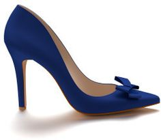 Shoes of Prey Royal Blue Silk Pointed Toe Pump