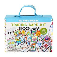 Our Kid Made Modern Trading Card Kit is perfect for the child that's nuts for blind packs and collecting trading cards of any type. This Kid Made Modern kit includes everything they need to create 36 custom trading cards. Custom Playing Cards, Custom Cards, Craft Kits, Craft Supplies, Date Activities, Make Your Own, Make It Yourself, Letter Balloons, Unique Cards