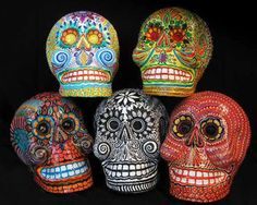 From Day of the Dead mexican masks