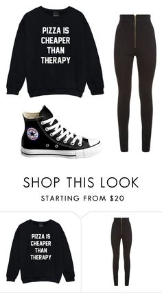 """""""Saturday morning"""" by alissiump-c ❤ liked on Polyvore featuring Balmain and Converse"""
