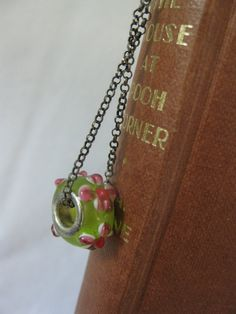 Bookmark with glass bead charm metal bookmark with by Trudysbeads