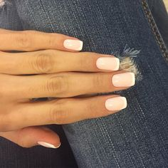 Beautiful French nails, Classic french manicure, Fall french nails, Fashion french, French manicure ideas 2017, French nail art, Gel french manicure, Pale pink french manicure