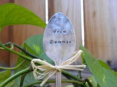 GROW DAMMIT garden pick  hand stamped by WhisperingMetalworks