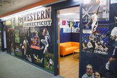 Western Connecticut Athletic Department sought to create a tribute wall - Enhance a Colour
