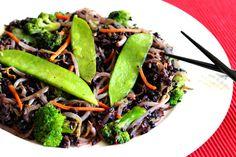 Forbidden Black Rice Stir Fry {low histamine, gluten free, soy free, vegan, fatigue fighting, healthy, meatless monday}