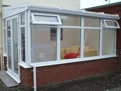 White uPVC Lean-to DIY Conservatory. Sunlounge Conservatories Manufactured and supplied by ConservatoryLand DIY Conservatories UK. Conservatory pictures kindly supplied by our customers.