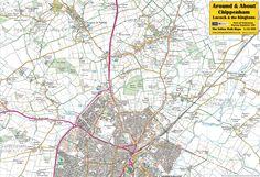 Chippenham, Lacock & the Kingtons - front of the map