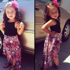 Little girl outfit Little Girl Outfits, Little Girl Fashion, Kids Outfits, Kids Fashion, Summer Outfits, Baby Swag, Stylish Kids, Fashionable Kids, Little Fashionista