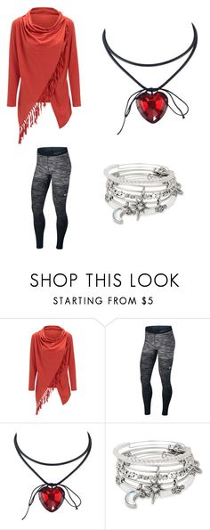 """winter fashion"" by lydia-kelly-redwood ❤ liked on Polyvore featuring WithChic, NIKE and Alex and Ani"