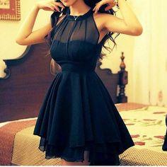 Irregular mesh stitching sleeveless chiffon dress sexy dress