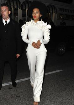 Solange Knowles Stephane Rolland Pantsuit