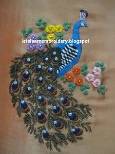 Shown below is the completed work of my embroidered peacock project.To download this free peacock pattern, please click  here.         ...