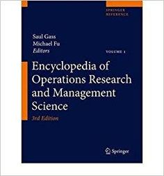 Introduction to operations research 10th edition fred hillier tlcharger encyclopedia of operations research and management science author saul fandeluxe Gallery