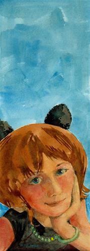 """Watercolor: Lets Make a Plan"" - Original Fine Art for Sale - � Belinda Del Pesco"