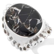 Himalayan Gems™ Black Onyx Mosaic Oval Sterling Silver Ring at HSN.com.