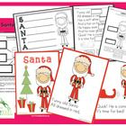 Santa Packet  Reading and Writing Activities for Christmas  Kindergarten