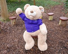 Please look after this bear! Follow him online & give him a name at our Spring Open Day! #bearhunt #worldbookday https://www.pennybrohn.org.uk/2017/03/02/bear-hunt/