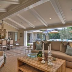 Wall of pocket doors opens to courtyard. Built, Designed & Furnished by Spinnaker Development, Newport Beach CA/Houzz