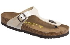 Birkenstock Gizeh Antique Lace Birko-Flor Here's the perfect thong sandal for those hot summer days! Lightweight, gracefully styled and adjustable for a good fit, it makes a great travel sandal. #birkenstock #birkenstockexpress.com  $80
