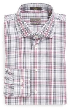Calibrate Non-Iron Trim Fit Plaid Dress Shirt available at #Nordstrom