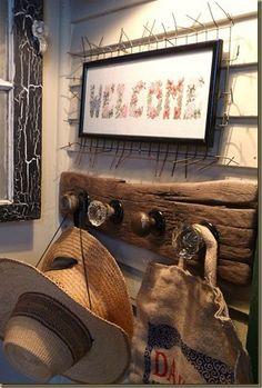 vintage door knob coat rack