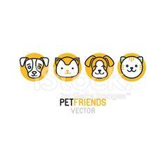 Vector logo design template for pet shops royalty-free stock vector art