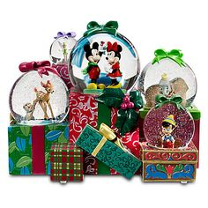 World of Disney Snowglobe - Holiday | Snowglobes | Disney Store