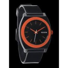 NIXON Time Teller P (Black/Orange) CLEAN AND PRECISE. An original Nixon design, a tried and true crowd favorite. FEATURES ORIGINAL NIXON DESIGN Our all-time best-seller with an unpretentious, versatile appearance that works anywhere anytime LIGHTWEIGHT Minimal case design in a versatile 40 mm package CLASSIC 3-hand movement with applied indices and custom molded hands COLOR POP Powerful in appearance & spirit  COMFORT Light 20 mm injected molded polyurethane band with patented locking looper…