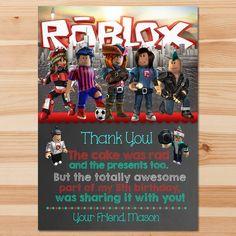 Roblox Thank You Card