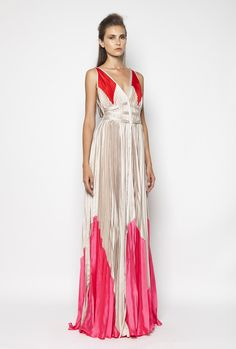 CHRISTOS COSTARELLOS SS12 Maxi Pleated Dress. Christos Costarellos, Fashion Outfits, Womens Fashion, Ready To Wear, Spring Summer, House Styles, How To Wear, Clothes, Dresses