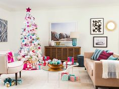 A sweet spin on #holiday decorating #pastels #pinks #white #hgtvmagazine // http://www.hgtv.com/design/make-and-celebrate/holidays/a-sweet-spin-on-holiday-decorating-pictures?soc=pinterest