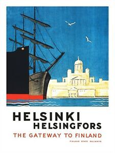 Finland Travel, Helsinki, Travel Posters, Poster Prints, Vintage, Holland, Tourism, Vintage Comics