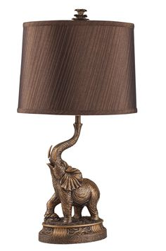 ORE 27 inch H Bronze Elephant Table Lamp 2 Piece by OJ Commerce 8025A - $85.77