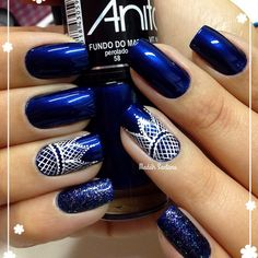 Blue Nail Art Ideas for 2018 - Top 150 Designs - Our Nail Creative Nail Designs, Creative Nails, Nail Art Designs, Fancy Nails, Pretty Nails, Hot Nails, Fabulous Nails, Beautiful Nail Art, Blue Nails