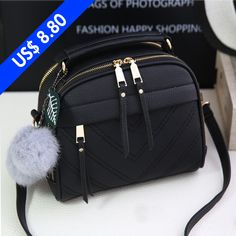 Buy Women Messenger Bags Inclined Shoulder Bag Ladies Leather Handbag Satchel Sling Bag at Wish - Shopping Made Fun Cute Handbags, Purses And Handbags, Leather Handbags, Cheap Handbags, Cheap Purses, Popular Handbags, Ladies Handbags, Handbags Online, Cheap Bags