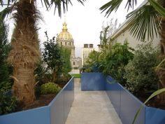 Jardinières IMAGE'IN: Aménagement d'un toit terrasse parisien.
