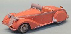 PAPERMAU: Alfa Romeo 8C2900B Corto Paper Model - by Toshimasa Mitsutake