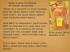Young Adult Reading Machine: Gabi, a Girl in Pieces by Isabel Quintero