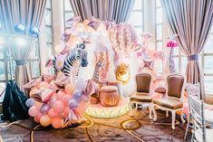 Lily's French Vintage Carnival Themed Party – Photo-op Carnival Birthday Invitations, Carnival Themed Party, Carnival Themes, Party Themes, Party Ideas, Pastel Balloons, Metallic Balloons, Vintage Carnival, Vintage Circus