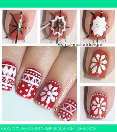 Holiday Sweater Nail Art Tutorial | simplenailartdesigns s.'s (simplenailartdesigns) Photo | Beautylish
