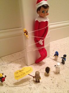 Funny Elf on the Shelf idea