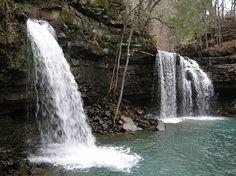 Arkansas Twin Falls in Richland Creek Adventure Magazine, Twin Falls, Fall River, Unique Gardens, Cool Photos, Amazing Photos, Get Outside, Natural Wonders, Arkansas